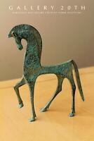 MID CENTURY ETRUSCAN HORSE SCULPTURE! VTG 50'S STATUE WEINBERG 1960s DECOR ART