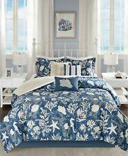 Madison Park Cape Cod 7-Pc. Cotton Reversible Coastal Comforter Set - QUEEN Blue