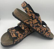 Birkenstock Betula Slingback Sandals Size 39 Women's US 8 Mens 6 Black Floral