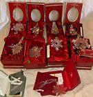 Waterford Irish Crystal 10 vintage Christmas Ornaments