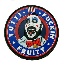 Captain Spaulding Tutti F*ckin Fruity PVC Morale Patch Rubber Hook Backed