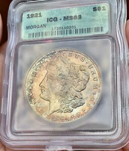 1921 MORGAN DOLLAR *TONER* 100 YEARS OLD MS63