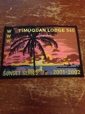 Timuquan Lodge #340 2001-2002 Year Jacket Patch OA Order of the Arrow  T-364