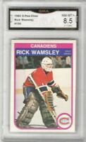 1982-83 O-Pee-Chee #195 Rick Wamsley RC | Graded NM/MT + | Montreal Canadiens