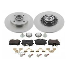Brake Set Brake Discs with Brake Pads Rear Axle for Citroen C4 Peugeot 307