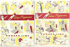 6 Daily Program of Events on the Cunard Line RMS Parthia May & Aug 1951
