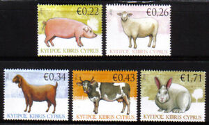 Cyprus Stamps SG 1212-16 2010 Domestic Animals - MINT Low postage