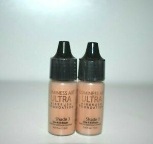 2 X New Luminess Airbrush Makeup Ultra Foundation Shade 3  0.25 fl oz Each