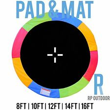 NEW Replacement Trampoline Safety Rainbow Mat & Pad Round 8ft 10ft 12ft 14ft 16