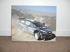 WRC RALLYING SIGNED CANVAS BY M SPORT DRIVER ELFYN EVANS 20x16 SIGNED RALLY DAY