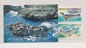 LO37757 Faroe Islands seals animals fauna sealife good booklet MNH
