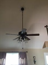 "Riviera 50"" Ceiling Fan w/Light 47""ceiling Stem"