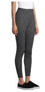 No Boundaries JUNIORS Black with White Dots Ankle Leggings XXL(19)... NEW!!!