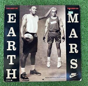 Vintage 93' Michael Jordan Nike The Best On Earth /Mars 16 Month Calendar RARE