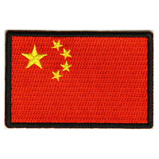 Embroidered China Flag Sew or Iron on Patch Biker Patch