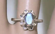 Labradorite Oval 8X6 mm Crown Setting Ring Sterling Silver Size 7