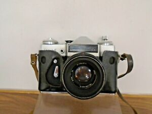 Zenit E SLR 35mm Film Camera With Helios 44-2 F2 58mm Lens Zenit Case Untested