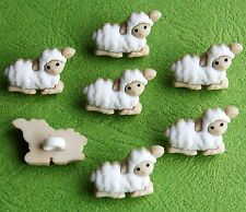 TINY SHEEP  Baby Lamb Farm Easter Nativity Christmas Dress It Up Craft Buttons