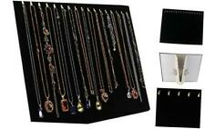 17 Hooks Necklace Display Jewelry Tray Organizer Pad Showcase Display Case 14.7