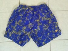 Vintage 80s 90s Nike Gray Tag Lined Nylon Running Shorts Large Purple Yellow