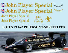 1/43 LOTUS FORD 79 1978 PETERSON ANDRETTI JARIER DECALS TB DECAL TBD55