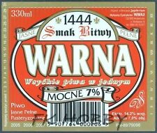 Poland Brewery Pokrówka Jagiełło Warna Beer Label Bieretikett Cerveza pk10.4