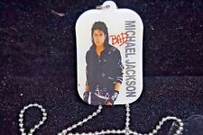 MICHAEL JACKSON BAD TOUR DOUBLE-SIDED DOG TAG NEW