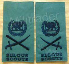 Rhodesia Rhodesian Army Selous Scouts Lieutenant General Epaulets