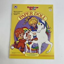 UNCUT Vintage 1984 Rainbow Brite Paper Doll Golden Book New 1980's