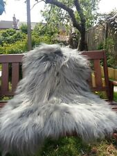 Real icelandic sheepskin rug colour grey/dyed/115-75cm /3