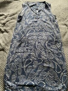 ❤️Next linen blend shift dress size 14T blue cream excellent used condition!❤️