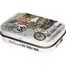 AMERICAN - ART Pillendose - ROUTE 66 - Nat. Old Trails Road m. Dragees NEU OVP