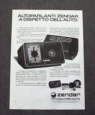 G329 - Advertising Pubblicità - 1981 - ZENDAR , AUTOPARLANTI BX-50/2 AUTOMOTIVE