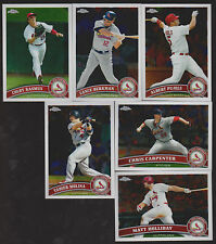 2011 CARDINALS 40 Card Lot w/ TOPPS CHROME Team Set EVERY WORLD SERIES PLAYER