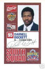 DARNELL DOCKETT 2004 SENIOR BOWL FSU FLORIDA STATE ARIZONA CARDINALS ROOKIE CARD