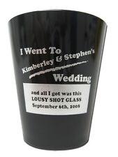 120 New PERSONALIZED Plastic Shot Glasses WEDDING KEEPSAKE Wedding Favor Gifts