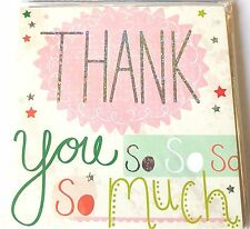 Pack Of 36 Simon Elvin Thank You So Much Cards