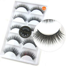 5 Pairs/Lot 3D False Eyelashes Thick Cross Long Classic Fake Eye Lashes Makeup