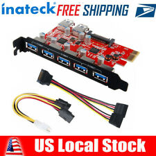 Inateck 15Pin SATA Connector Superspeed 7 Ports PCI-E to USB 3.0 Expansion Card