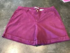 Women's Old Navy Purple Cuffed Hem Chino Shorts Size 16