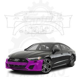 Paint Protection Film Clear PPF for Audi A7 Prestige 2020 Front Bumper