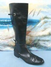 Valerie Stevens Randolph Womens Black Leather Knee-high Riding Boot 7 M