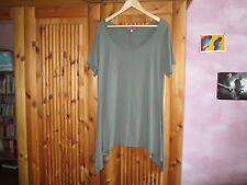 MAT Zipfel Tunika Basicshirt in Khaki Grün Gr. 42-46 Neu