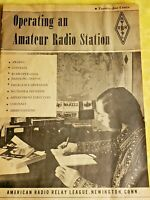 1971 Operating an Amateur Radio Station Manual ~ NICE CONDITION ~ RARE VERSION