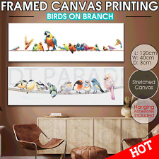 Birds Parrot canvas print stretched Wall art home decor painting framed 120*40
