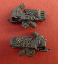 Space Marine Warhammer mundo exclusivo tanques de comando HQ pistola de plasma Doble Cúpula