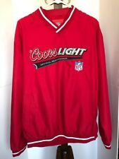 Authentic Vintage Coors Light Beer Nfl Official Sponsor Pullover Sweatshirt Xl