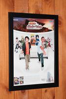 Naruto Clash of Ninja Revolution Wii promo small Poster / Ad Page Art Framed