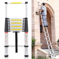 3.2m Multi-Purpose Aluminium Telescopic Ladder Extension Extendable Safety UK