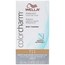 Wella Color Charm Permanent Hair Toner, Lightest Beige Blonde [T11] 1.40 oz